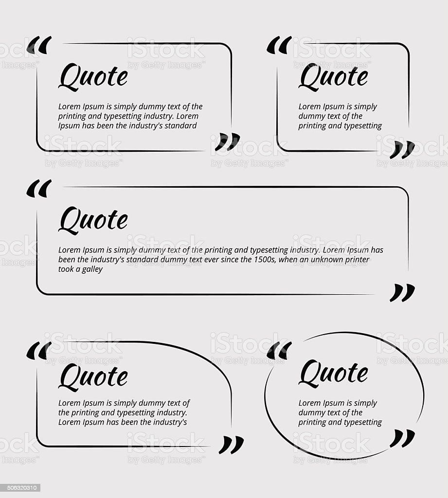 Quote blank template vector art illustration