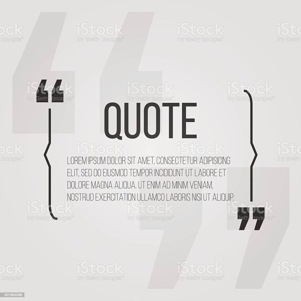 Quote blank with text bubble with Commas. Vector dialog box vector art illustration