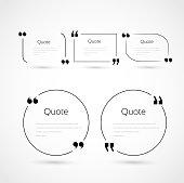 Quote bubbles template set