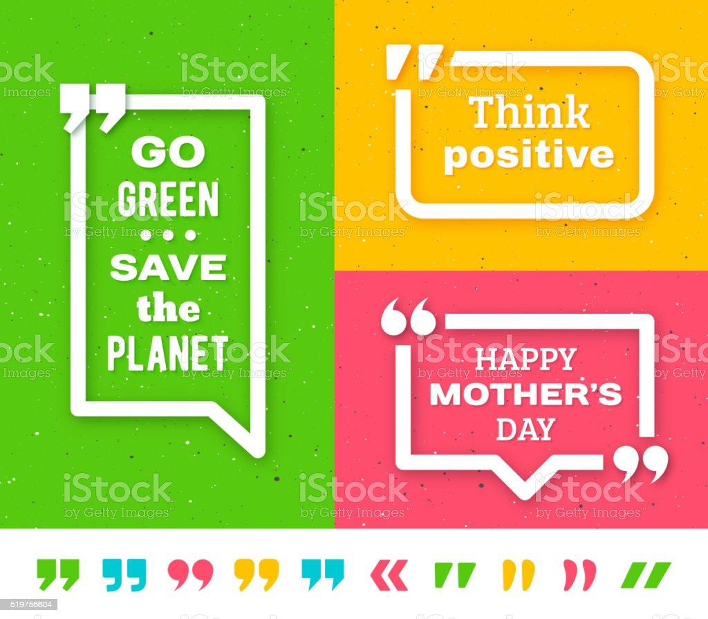 Quote frame templates. Quotation marks set royalty-free stock vector art