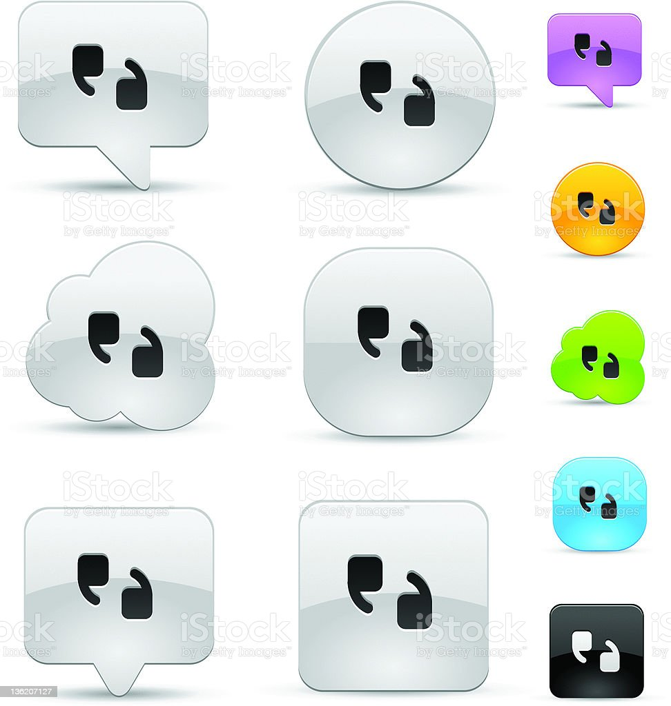 Quote icon set royalty-free stock vector art