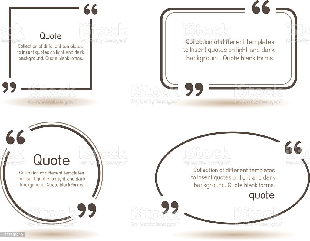 quote shadow white background vector art illustration