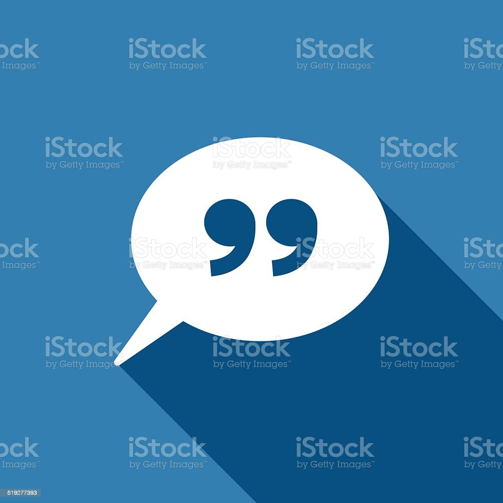 quote sign icon vector art illustration