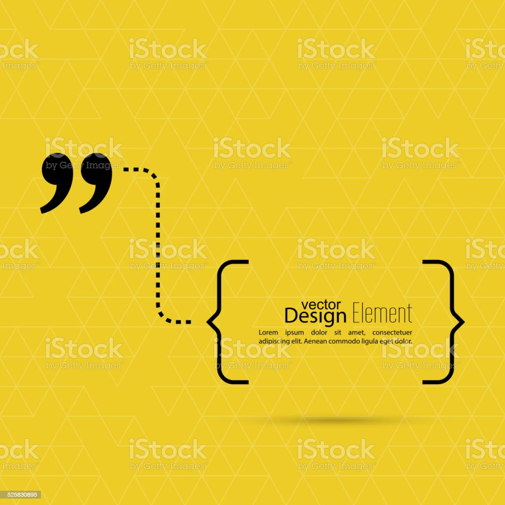 Quote sign icon. vector art illustration