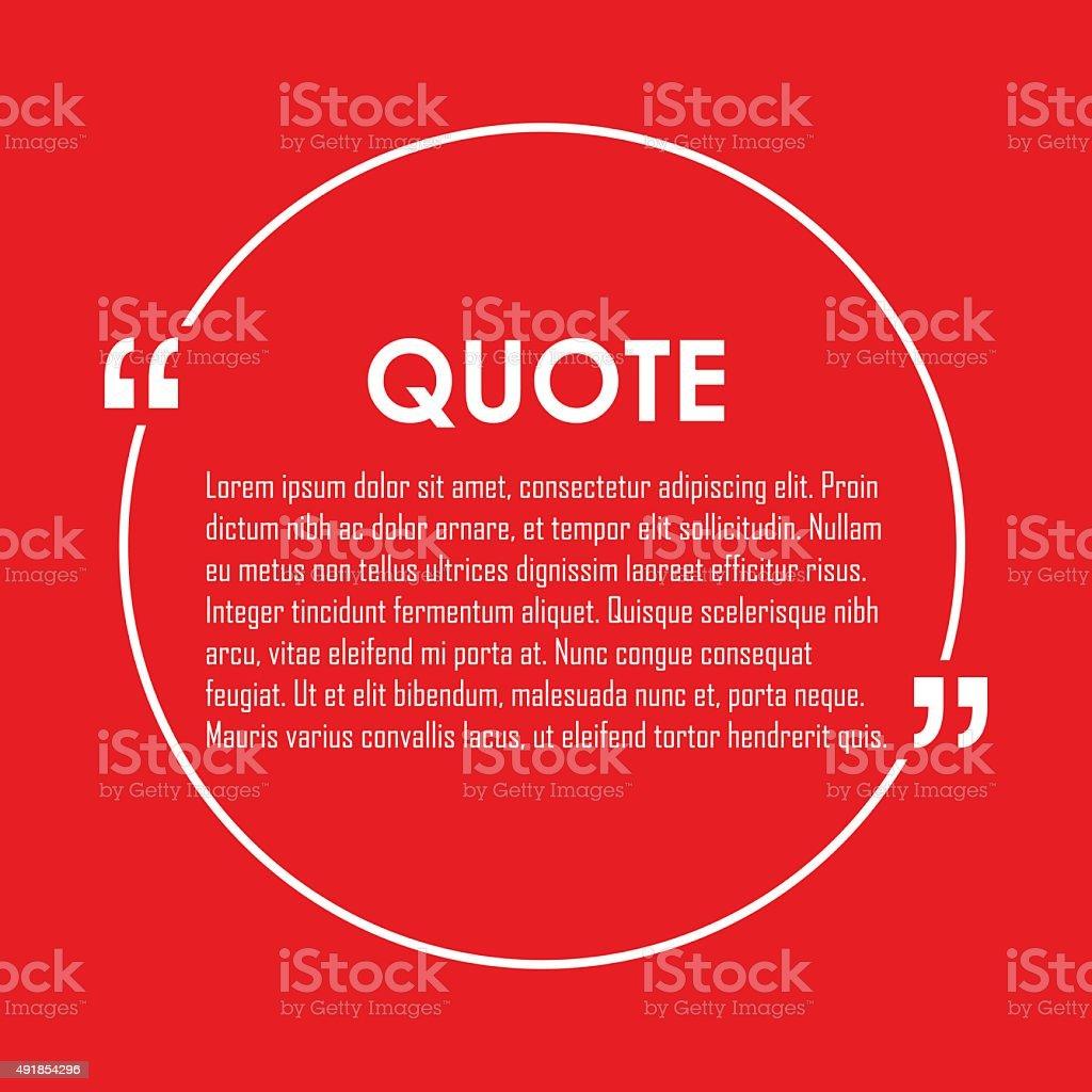 Quote text bubble. vector art illustration
