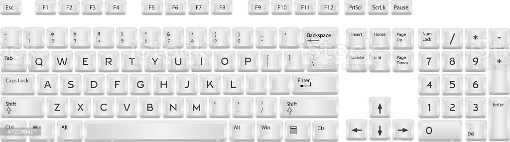Qwerty Keyboard royalty-free stock vector art