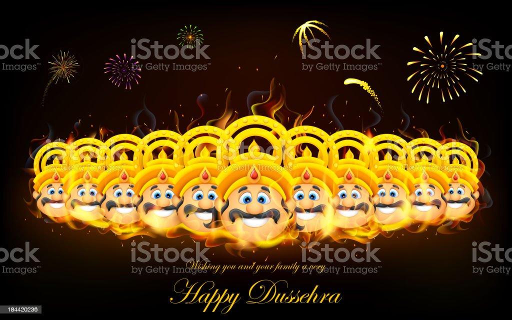 Raavan Dahan for Dusshera royalty-free stock vector art