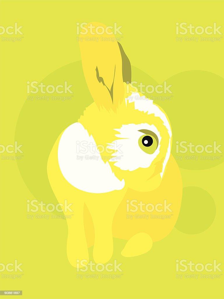 rabbit & fleas royalty-free stock vector art