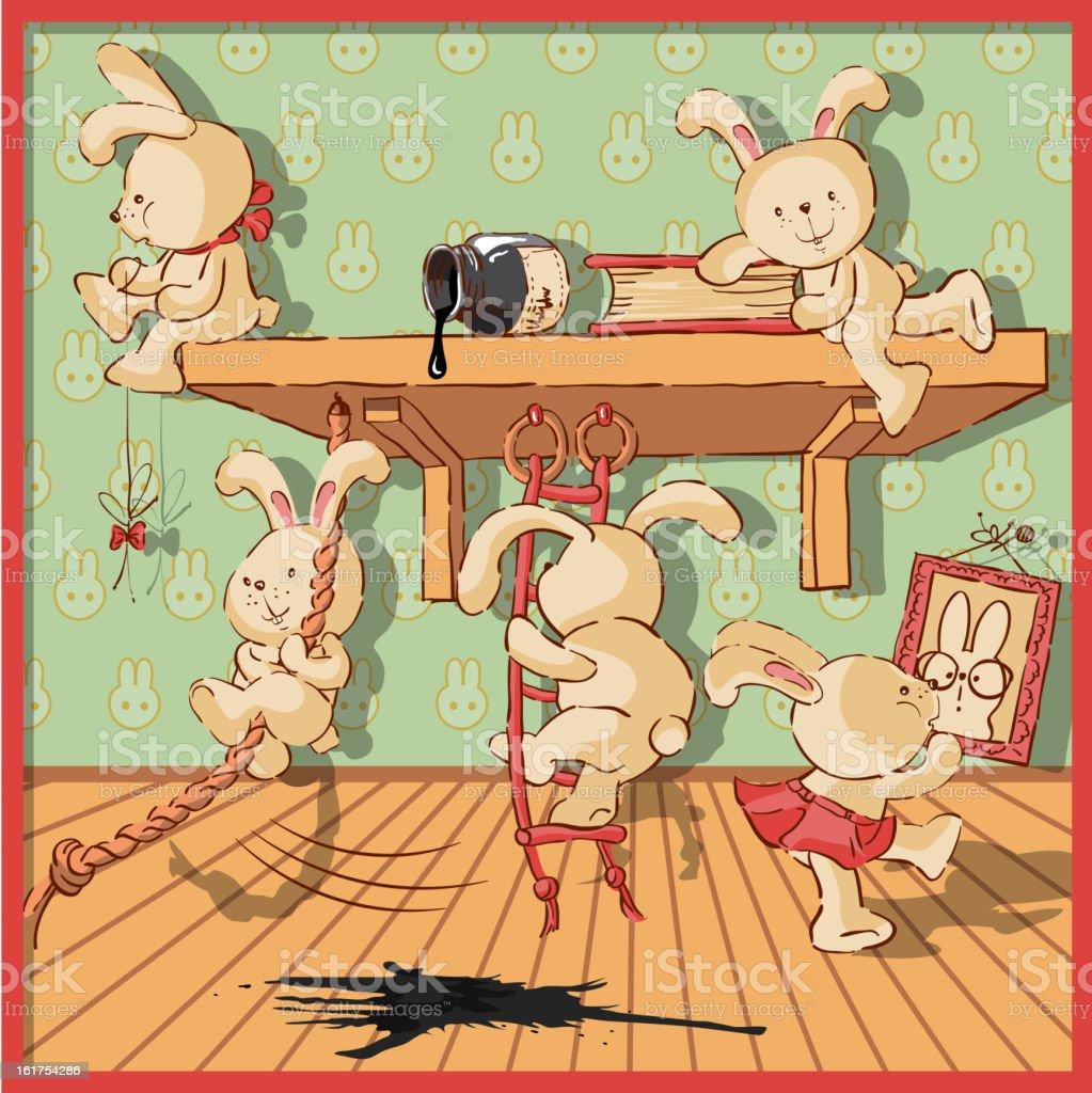 Rabbits royalty-free stock vector art