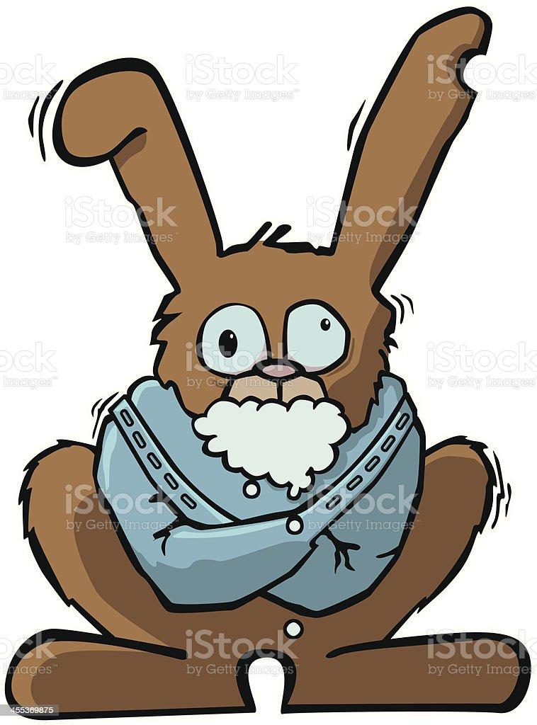 Rabid Rabbit royalty-free stock vector art