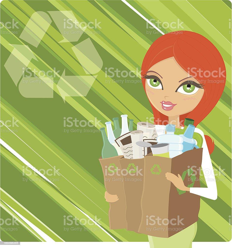 Raccolta Differenziata - Recycle vector art illustration