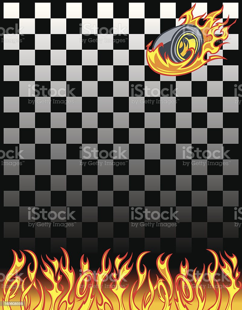 Race Car Checkered Flag Background vector art illustration