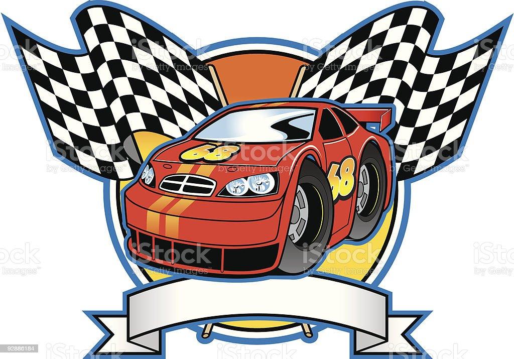 Race Car Graphic vector art illustration