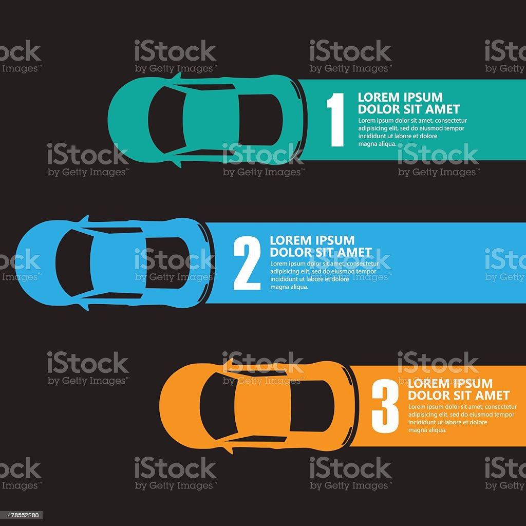 race car infographics vector art illustration