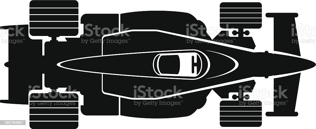 race car vector art illustration