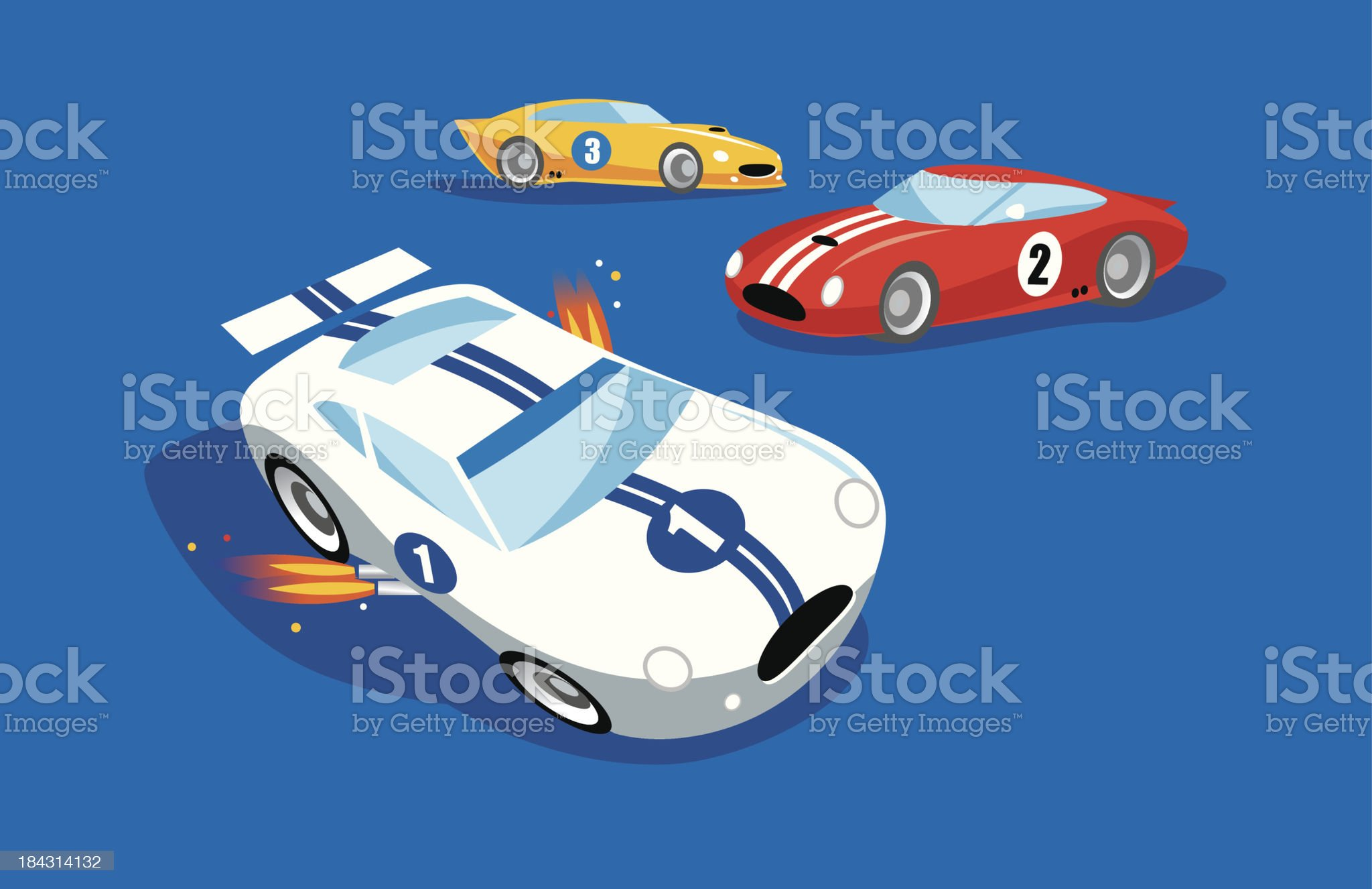 Race Cars royalty-free stock vector art