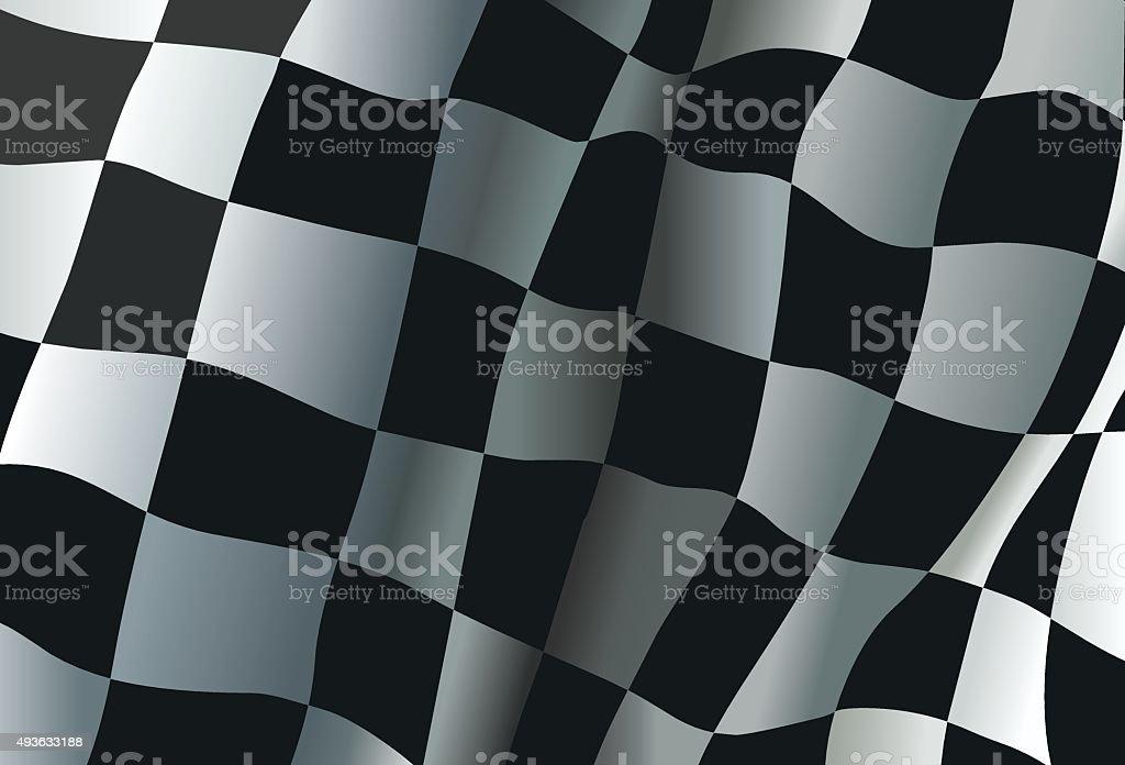 Race flag vector art illustration