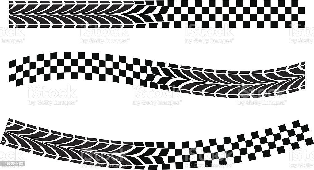 race flag warp vector art illustration