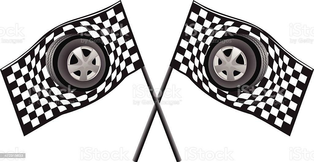 Race Flags royalty-free stock vector art