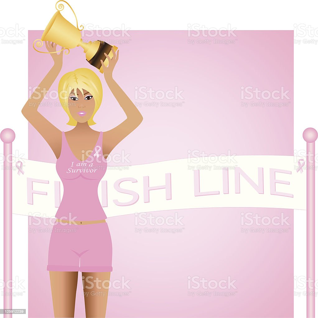 Race for a Cure royalty-free stock vector art