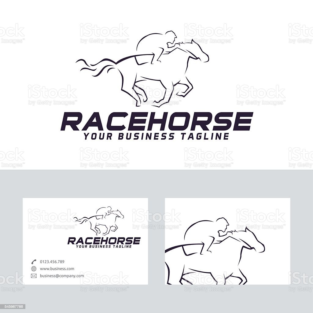 Race horse vector logo vector art illustration