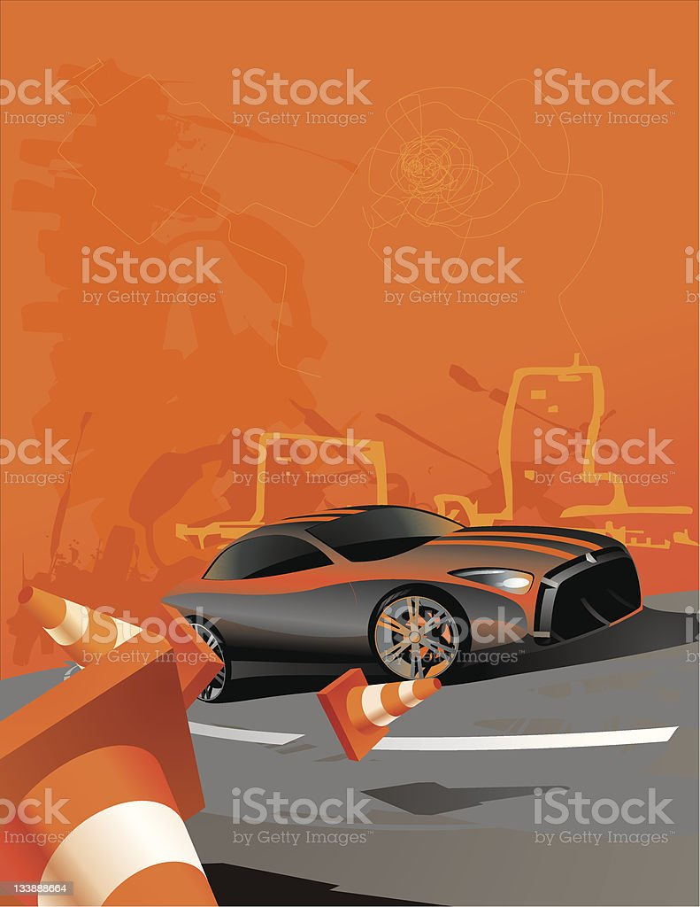 Race me royalty-free stock vector art