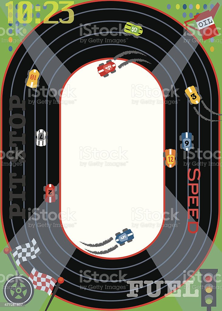 Race Track Mortice C vector art illustration
