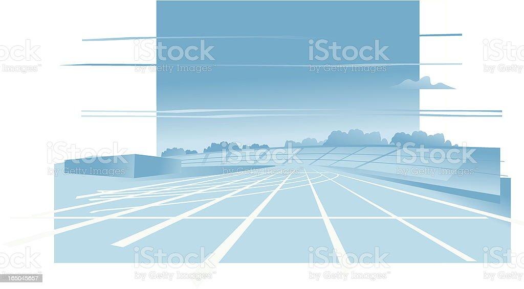 Race Track royalty-free stock vector art