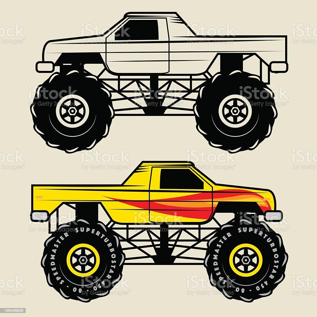 Race truck, vector vector art illustration