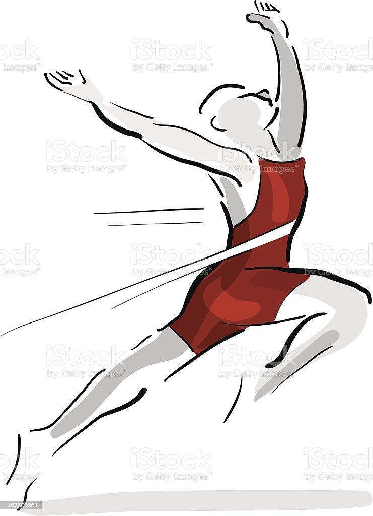 Race Winner - Finishing Line vector art illustration
