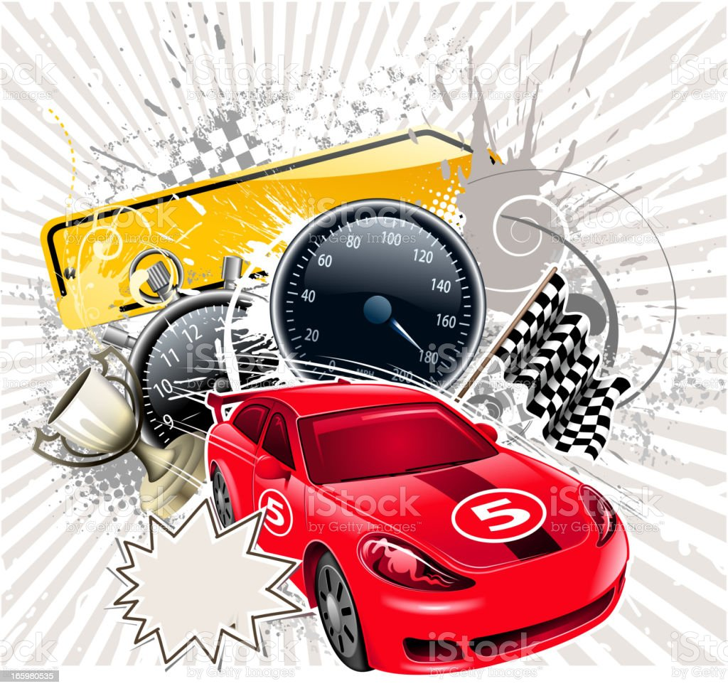 racecar backround royalty-free stock vector art