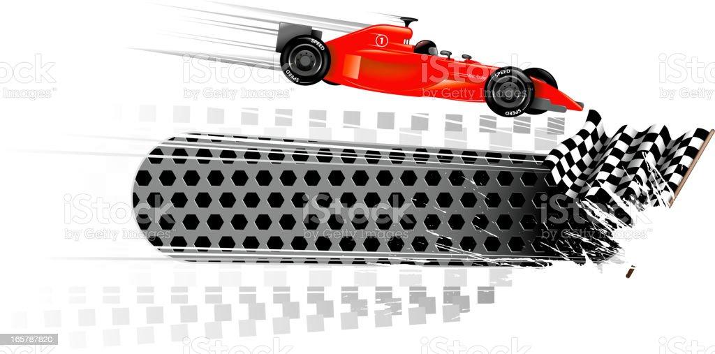 racecar banners vector art illustration