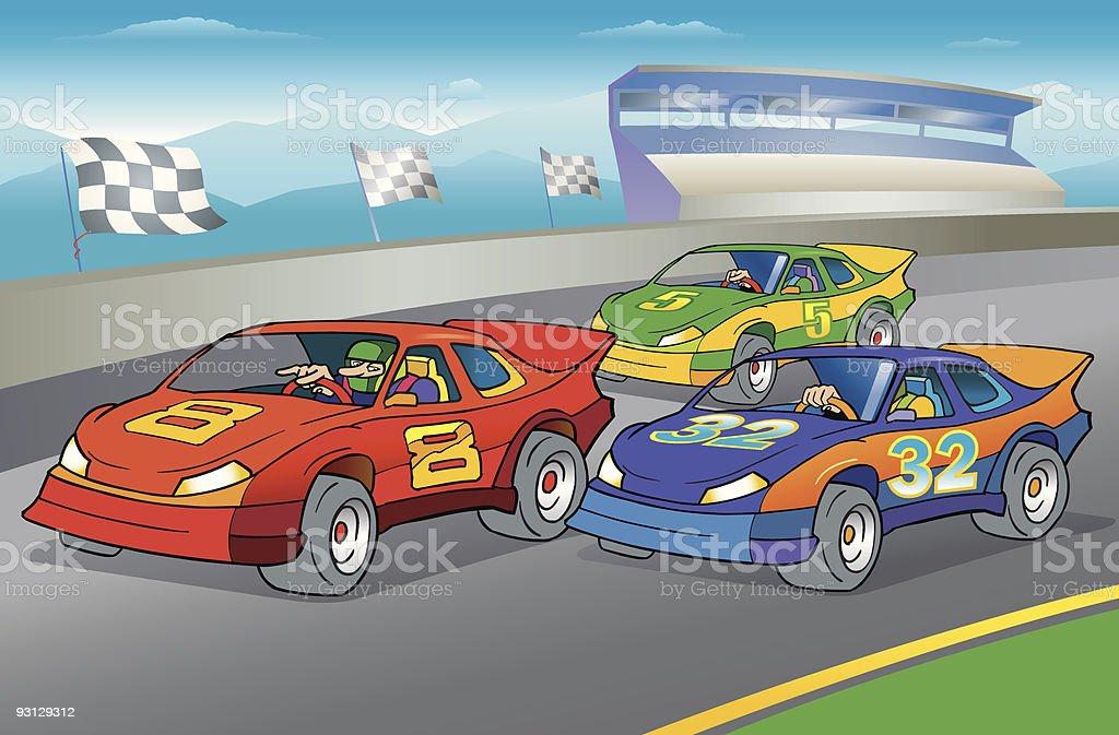 Racecar Day royalty-free stock vector art