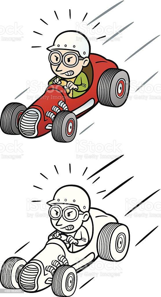 Racer Man vector art illustration