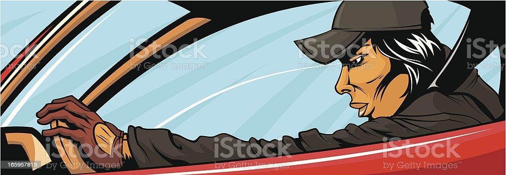 Racer royalty-free stock vector art