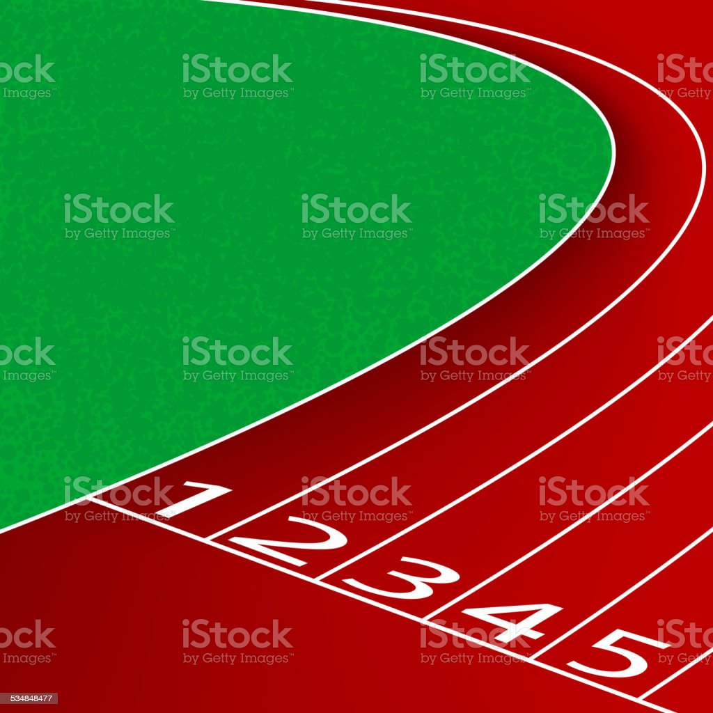 Racetrack scene vector art illustration