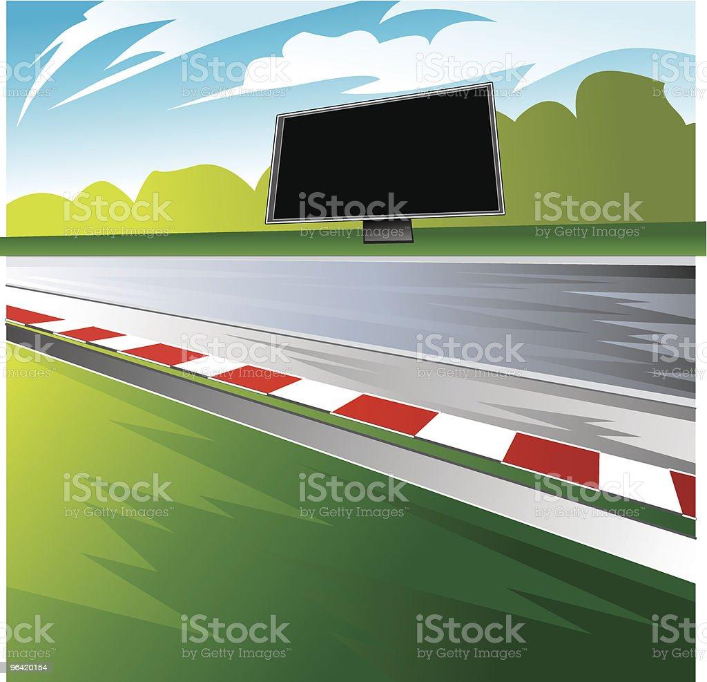 Racetrack vector art illustration