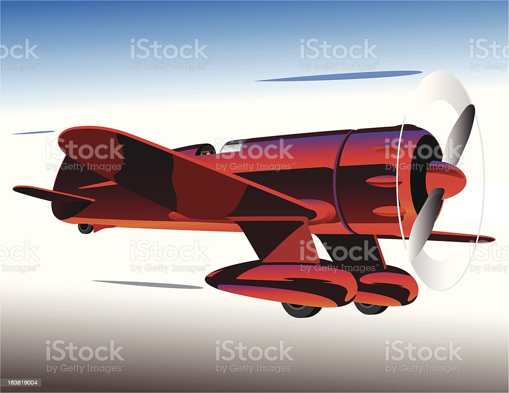 Racing Airplane royalty-free stock vector art