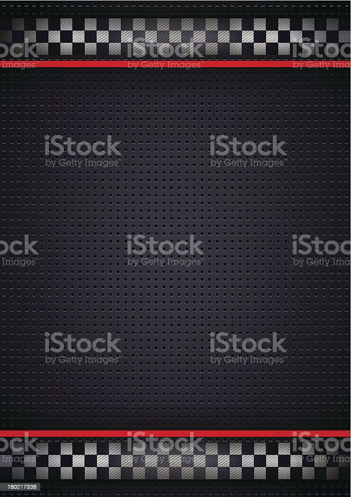 Racing background vertical, metallic perforated royalty-free stock vector art