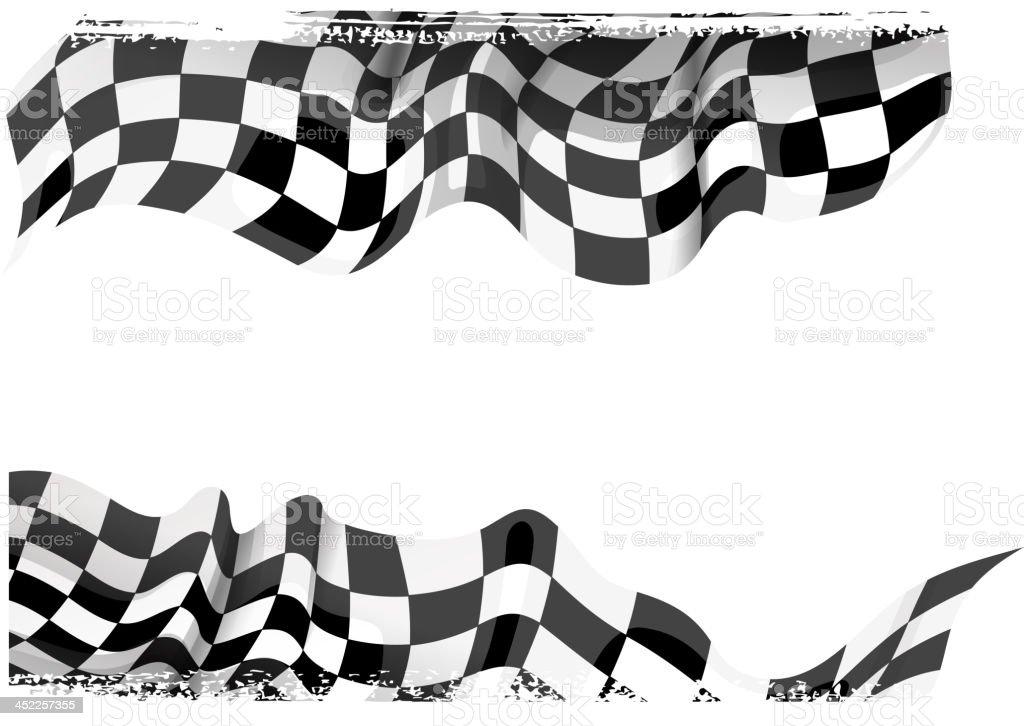racing banner vector art illustration