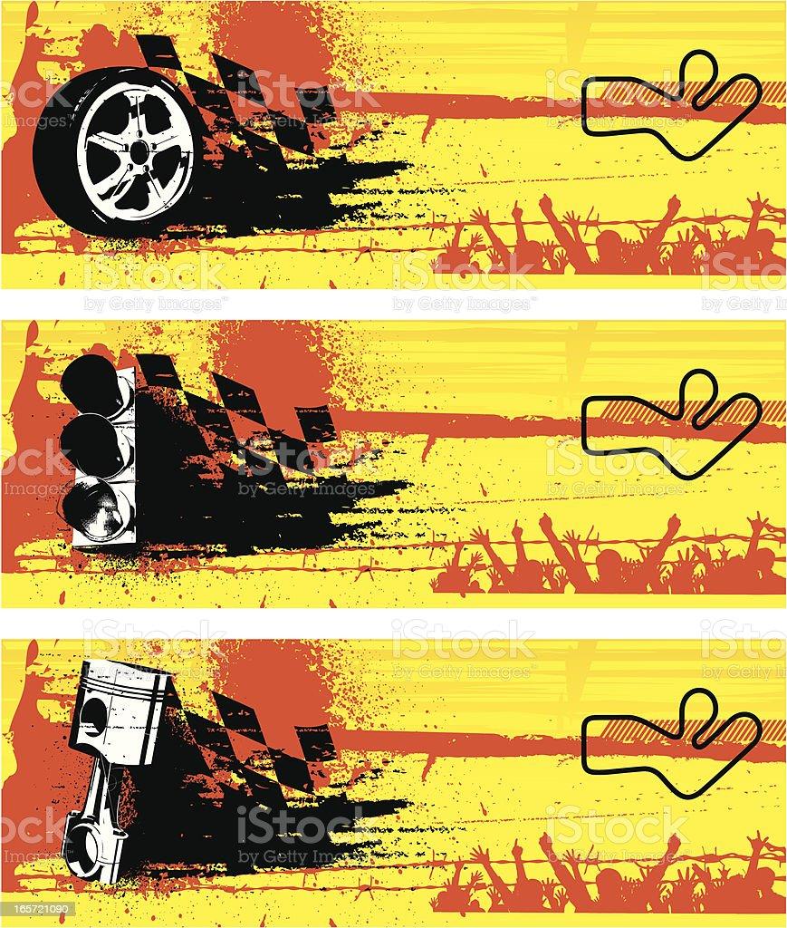 Racing banners royalty-free stock vector art