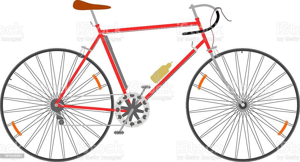 Racing bike. vector art illustration