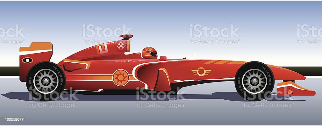 Racing bolide royalty-free stock vector art