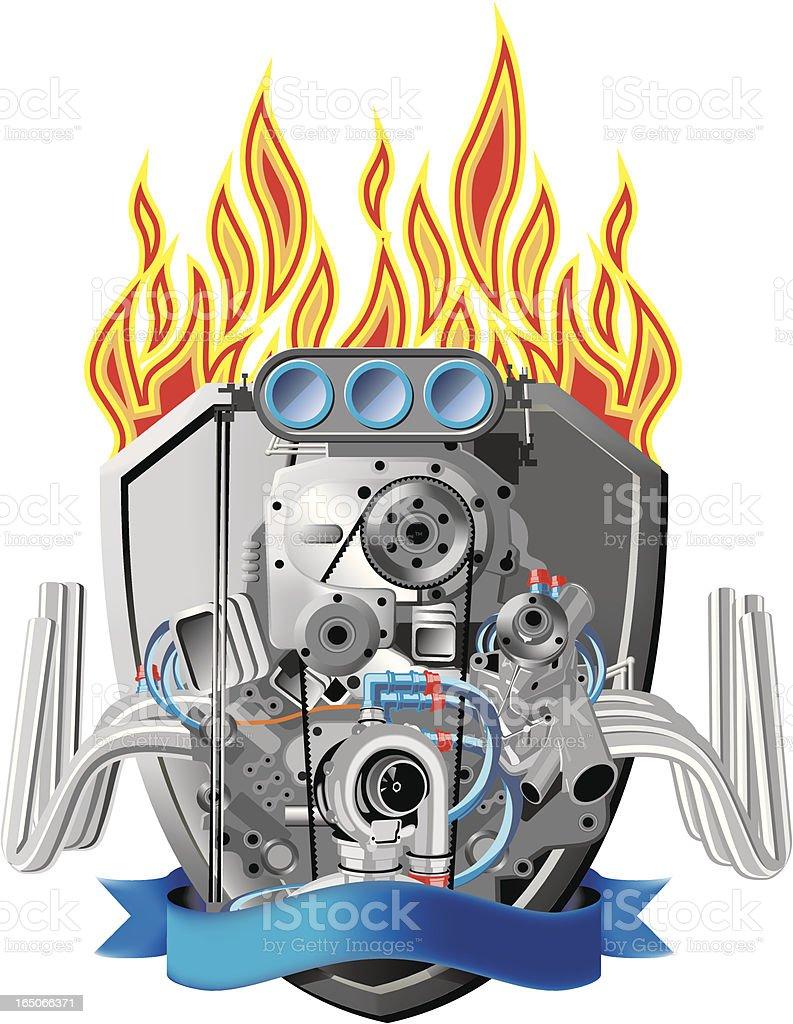 Racing Car Engine royalty-free stock vector art