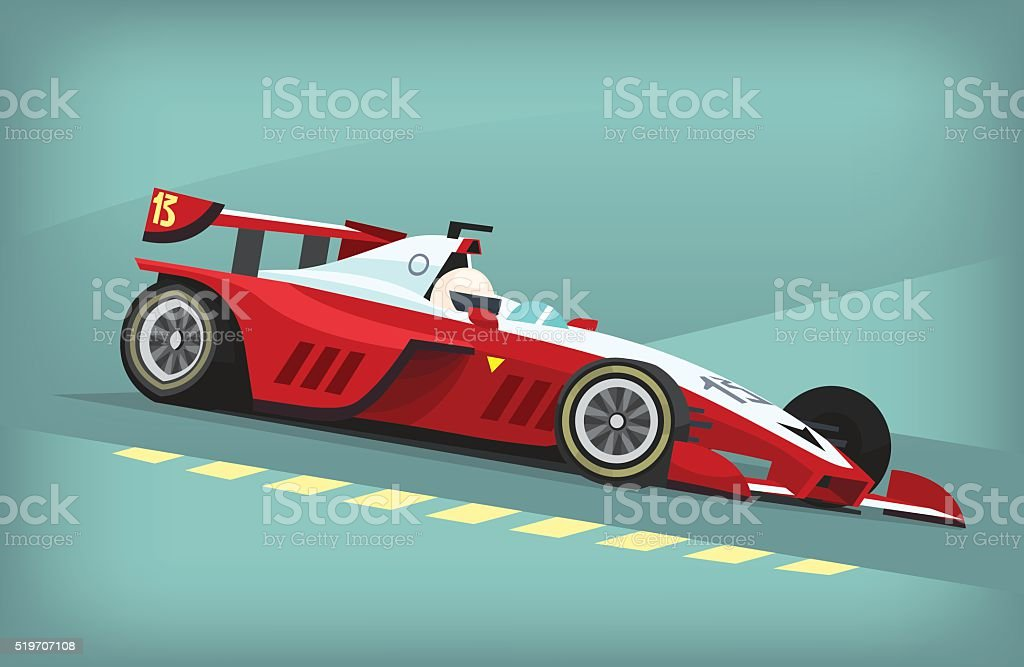 Racing car vector art illustration