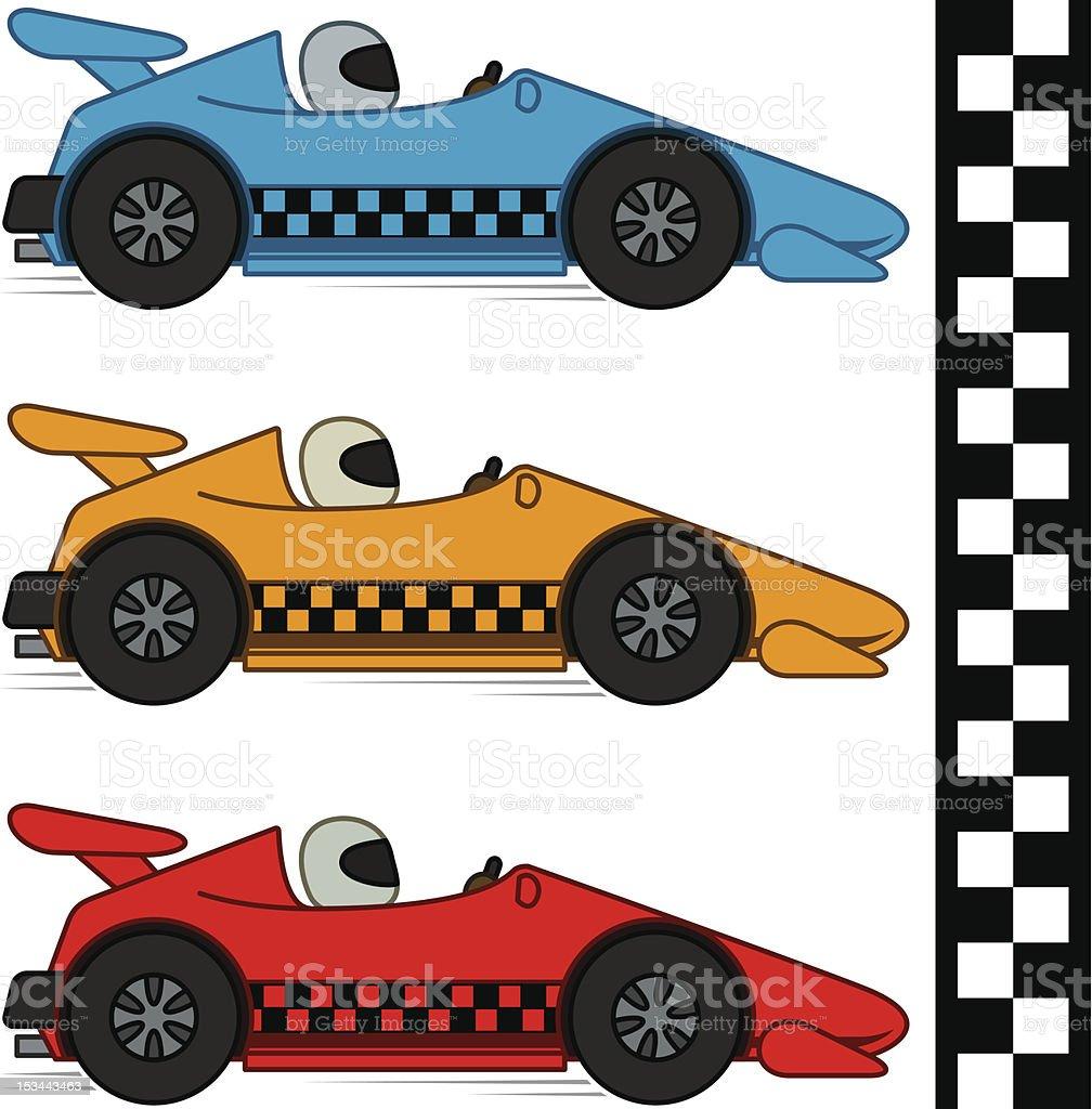 Racing Cars Finishing Line Stock Vector Art Istock