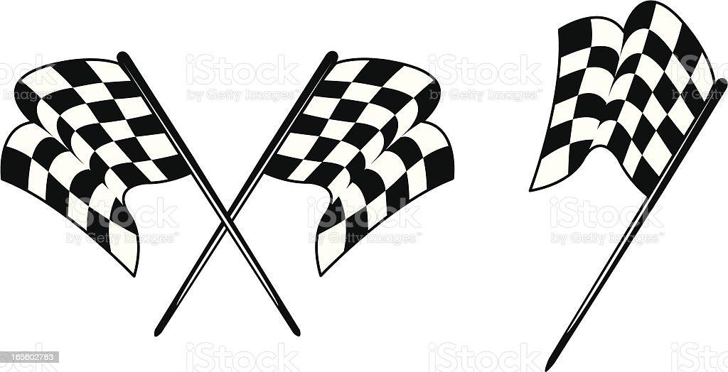 Racing - Checkered Flags royalty-free stock vector art