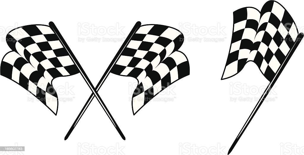 Racing - Checkered Flags vector art illustration