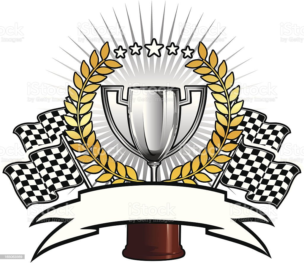 racing cup vector art illustration