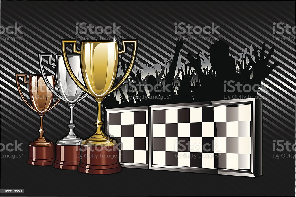 Racing Cups Emblem royalty-free stock vector art